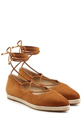 Michael Kors Collection Suede Ballerinas Brown
