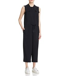 Dkny Pure Cropped Drawstring Jumpsuit Black