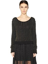 Aviu Embellished Wool Sweater