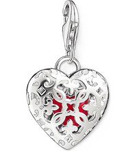 Thomas Sabo Charm Club Silver And Enamel Heart Locket Charm Pendant