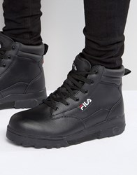 Fila Grunge Mid Laceup Boots Black