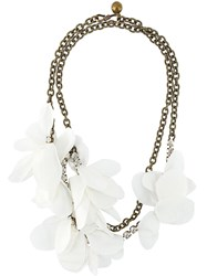 Lanvin Floral Detail Necklace Metallic