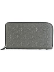 Jimmy Choo Carnaby Travel Wallet Grey