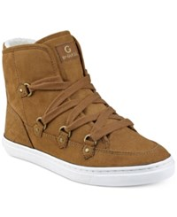 G By Guess Otter Lace Up Hiker Sneakers Women's Shoes Caramel