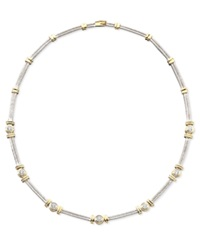 Macy's Diamond Necklace In 14K Two Tone Gold 1 Ct. T.W.