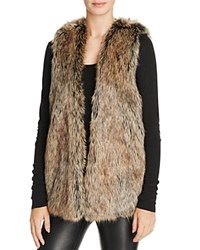 Splendid Westhaven Faux Fur Vest Brown