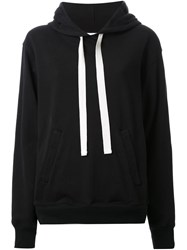Bassike Fleece Hooded Sweater Black