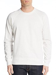 Vince Sueded Fleece Pullover Heather White