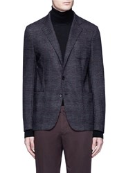 Armani Collezioni Glen Plaid Soft Wool Blazer Multi Colour
