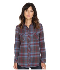 Volcom Cozy Day Long Sleeve Top Crimson Women's Long Sleeve Button Up Red
