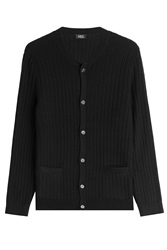 A.P.C. Manhattan Merino Wool Cardigan Blue