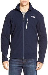 The North Face Men's 'Texture Cap Rock' Fleece Jacket Cosmic Blue Tnf White