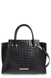 Brahmin 'Priscilla' Croc Embossed Leather Satchel