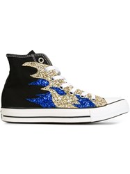 Converse Sequin Flame Sneakers Black
