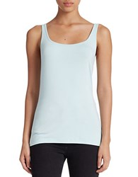 Lord And Taylor Stretch Roundneck Tank Icy Morn