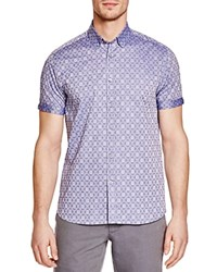 Ted Baker Blomtin Floral Jacquard Regular Fit Button Down Shirt 100 Bloomingdale's Exclusive Blue