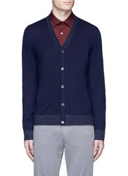 Theory 'Rothley' Merino Wool Cardigan Blue