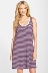 Lauren Ralph Lauren Stripe A Line Nightgown Grapevine Stripe