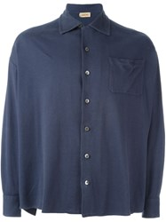 Romeo Gigli Vintage Jersey Shirt Blue
