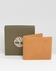 Timberland Leather Billfold Wallet With Coin Pocket Tan