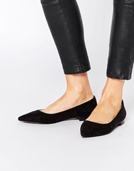Asos Lost Pointed Ballet Flats Black
