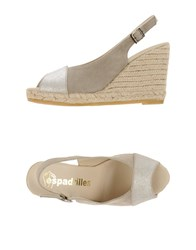 Espadrilles Footwear Sandals Women Light Grey