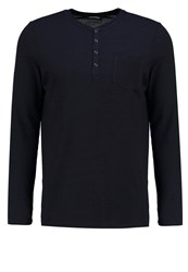 Karl Lagerfeld Long Sleeved Top Navy Dark Blue