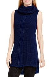 Vince Camuto Women's Two By Knit Cowl Neck Tunic Naval Navy