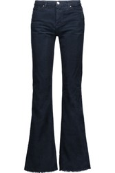Iro Forest Cotton Corduroy Flared Pants Navy
