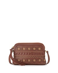 Isabella Fiore Morocco Laser Cut Crossbody Bag Brandy