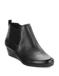 Easy Spirit Dalena Leather Wedge Ankle Bootie Black