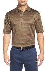 Bobby Jones Men's 'Helix' Jacquard Stripe Jersey Polo Safari