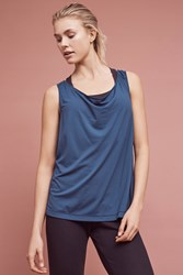 Anthropologie Tie Back Rally Tank Navy