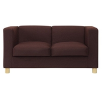 Box Sofa 2 Seater Brown