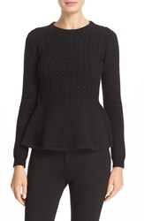 Ted Baker Women's London 'Mereda' Cable Knit Peplum Sweater
