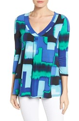 Chaus Women's Fragment Abstract V Neck Top