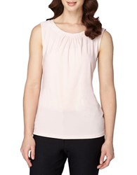 Tahari By Arthur S. Levine Twisted Neck Sleeveless Knitted Top Pink