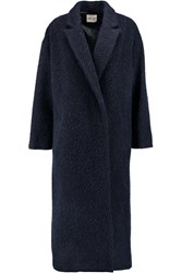 Mih Jeans Oversized Wool Blend Coat Blue