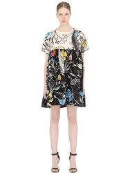 Maurizio Pecoraro Printed Cotton Poplin Baby Doll Dress