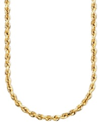 Macy's 14K Gold Diamond Cut Rope Chain Necklace