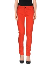 Victoria Beckham Denim Denim Trousers Women Orange