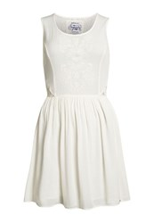 Superdry Sheer Lacy Sweep Dress Winter White