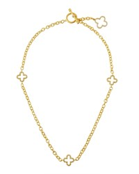 Freida Rothman Open Clover Station Necklace Women's