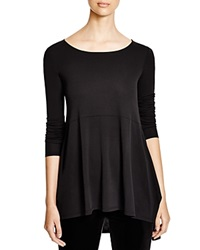 Eileen Fisher Silk A Line Tee Black