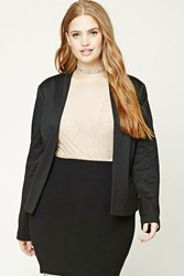 Forever 21 Plus Size Collarless Blazer Black