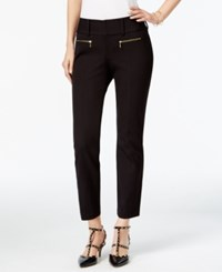 Inc International Concepts Petite Straight Leg Cropped Zipper Pocket Pants Only At Macy's