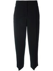 Giorgio Armani Pleated Front Cropped Pants Black