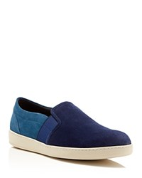 To Boot New York Adams Color Block Slip On Sneakers Indigo Cobalt