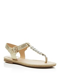 Sperry Anchor Away Metallic T Strap Flat Sandals Gray