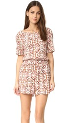 Cupcakes And Cashmere Cameron Printed Romper Retro Floral